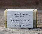 Natural Organic Rosemary Mint Soap - All Natural Soap, Handmade Soap, Homemade Soap, Handcrafted Soap