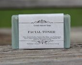 Natural Organic Facial Toner Soap - All Natural Soap, Handmade Soap, Homemade Soap, Handcrafted Soap