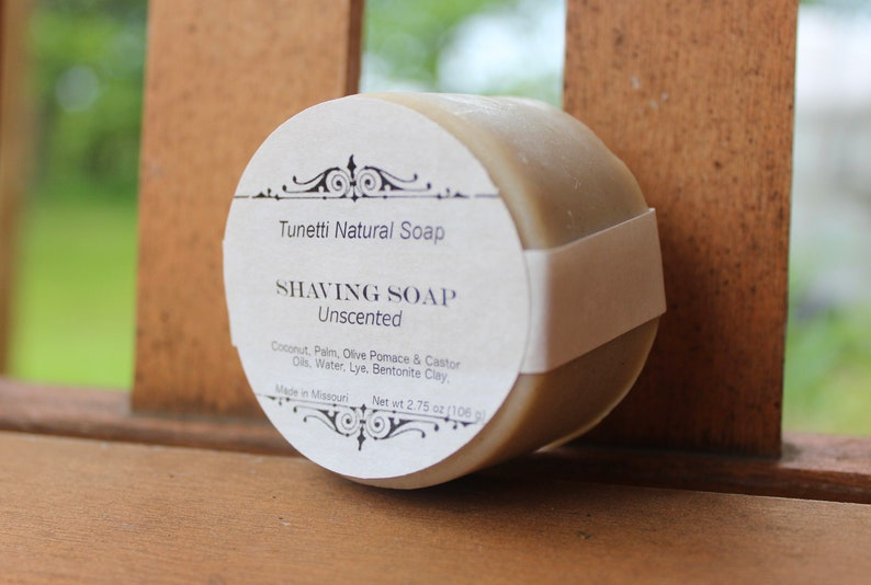 All Natural Shaving Soap  Unscented image 0