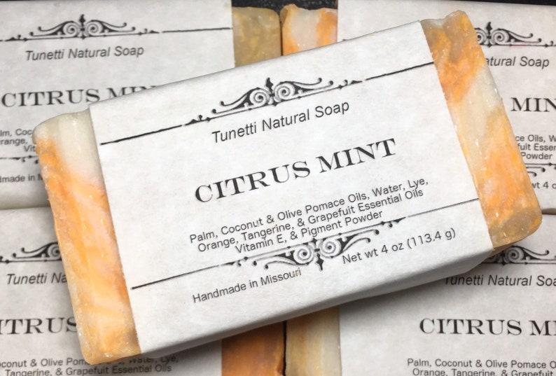 Citrus Mint Soap Handmade Natural Soap image 0