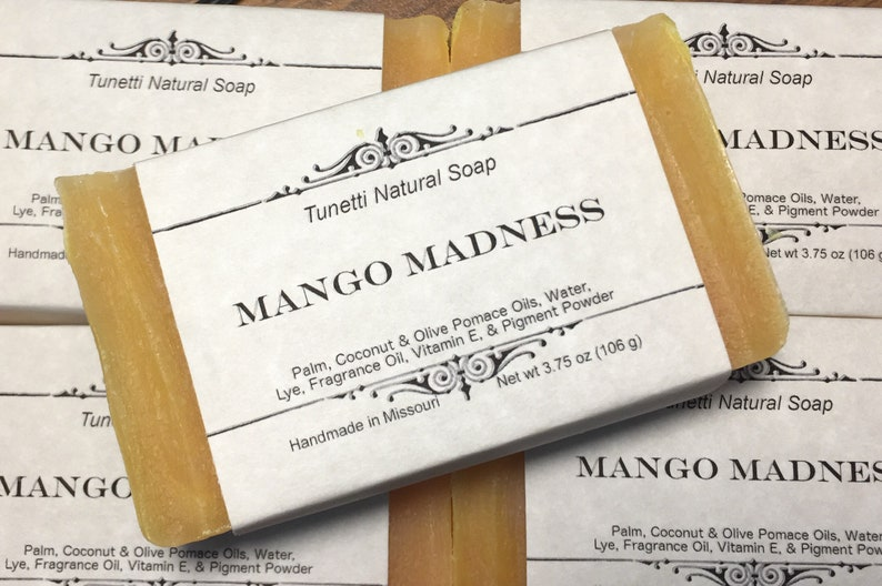 Mango Madness Soap  All Natural Soap Handmade Soap Homemade image 0