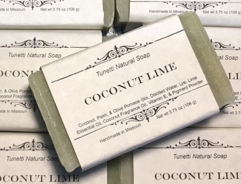 Coconut Lime Soap  All Natural Soap Handmade Soap Homemade image 0