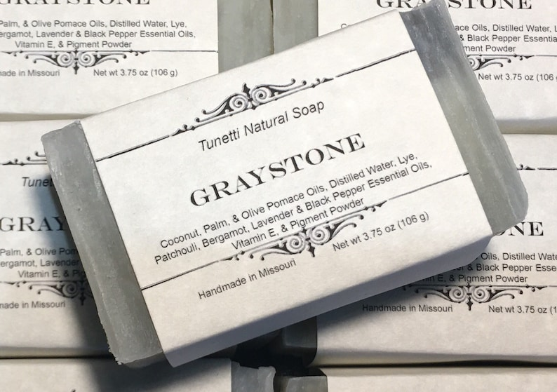 Natural Organic Graystone Soap  Natural Handmade Soap image 0