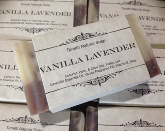 Vanilla Lavender Natural Homemade Soap, Handmade soap, Natural Soap, Cold Process Soap