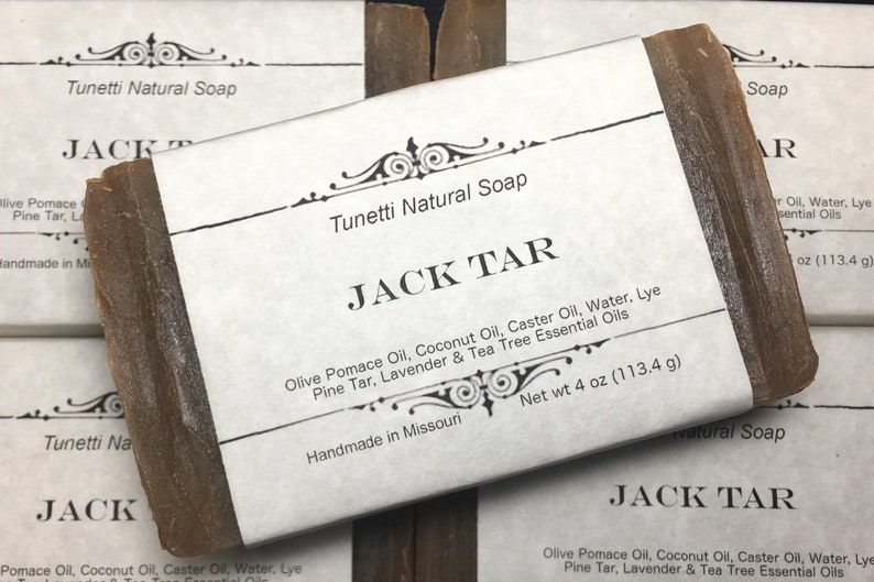Natural Organic Jack Tar Soap  All Natural Soap Handmade image 0