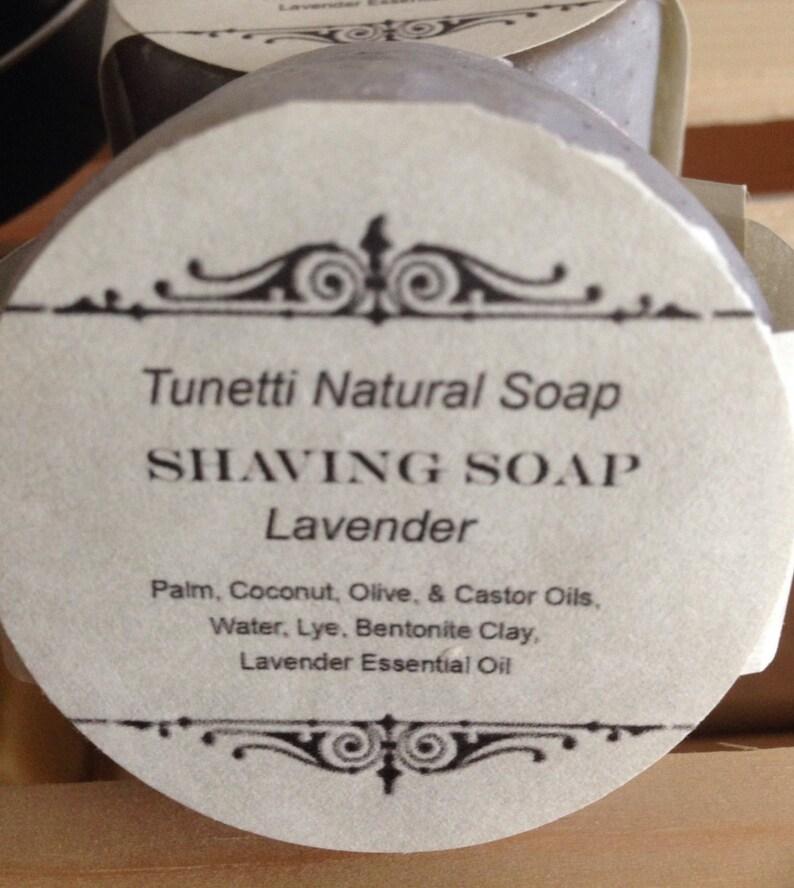 Lavender Shaving Soap  All Natural Soap Handmade Soap image 0