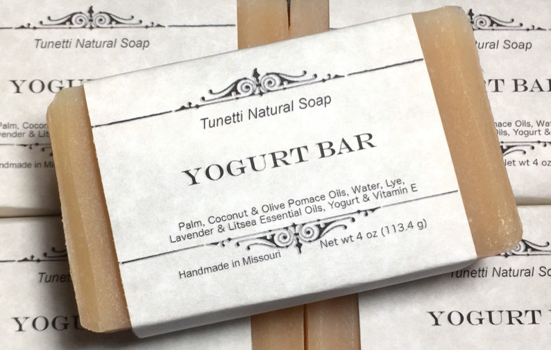 Yogurt Bar Soap Handmade Natural Soap image 0