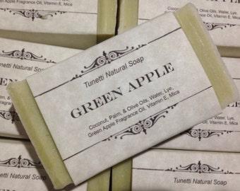 Green Apple Natural Homemade Soap, Handmade soap, Natural Soap, Cold Process Lye Soap