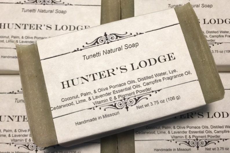 Natural Organic Hunter's Lodge Soap Handmade Natural Soap image 0
