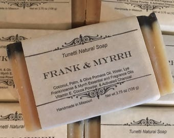 Frank & Myrrh Homemade Soap, Handmade soap, Natural Soap, Cold Process Lye Soap