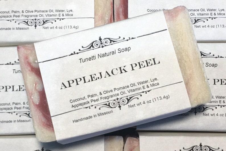 Applejack Peel Soap Handmade Natural Soap image 0