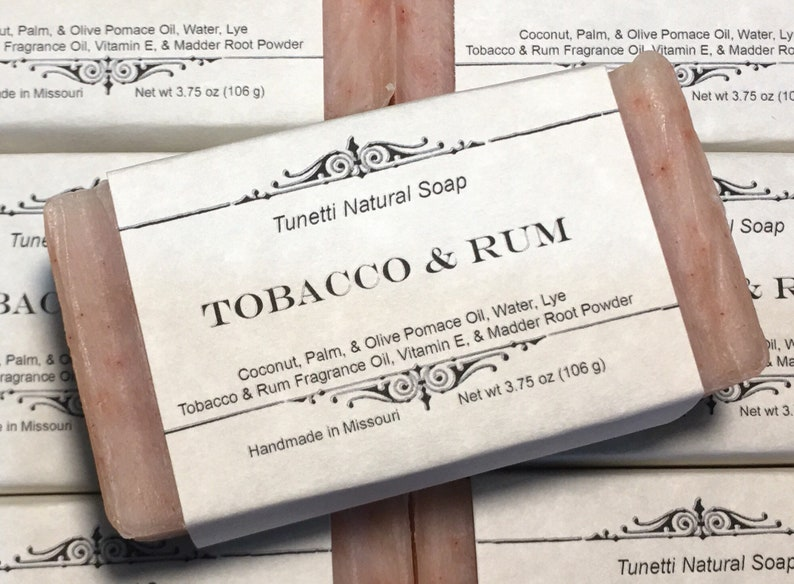 Tobacco & Rum Soap  Handmade Soap Homemade Soap Handcrafted image 0