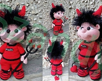 Devil Elf Boy PATTERN crochet amigurumi