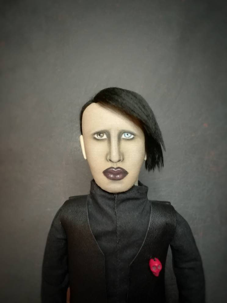 Marilyn Manson Portrait Doll Mini Etsy