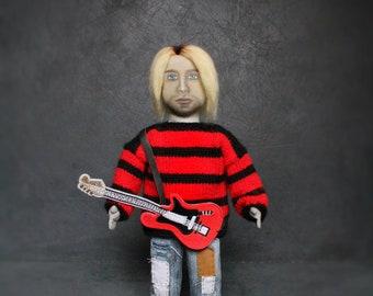 Kurt Cobain Portrait doll,Nirvana