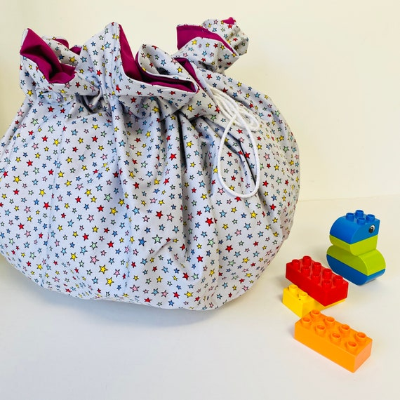 Play and Go Bag, Kids Toy Storage Bag, Kids Lay and Play Bag