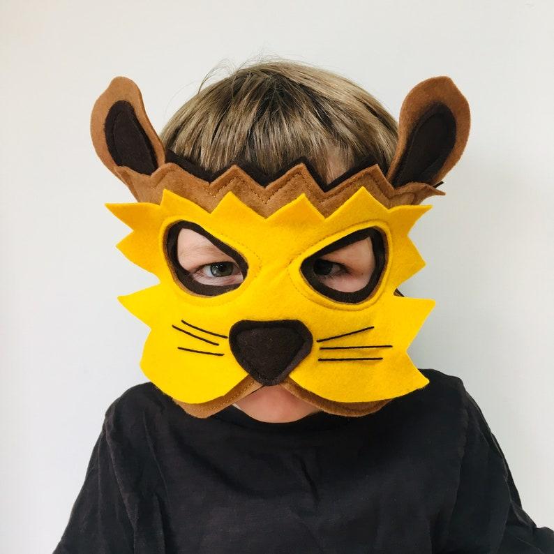 4a702774c Kids Lion Mask Adult Lion Mask Felt Lion Mask Lion Costume | Etsy