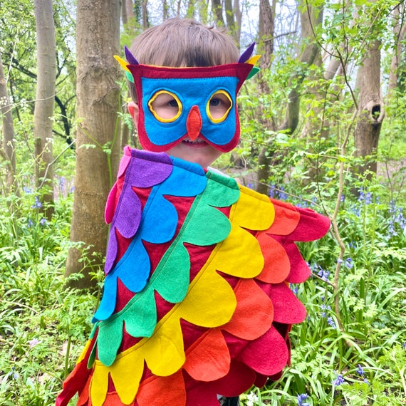 Rainbow Bird Costume, Kids Unicorn Wings, Rainbow Costume, Kids Carnival Bird Wings, Festival Bird Costume, Adult Parrot Wings ANY BIRD/SIZE