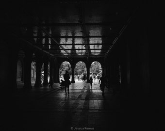 New York City black and white photograph Central Park wall decor