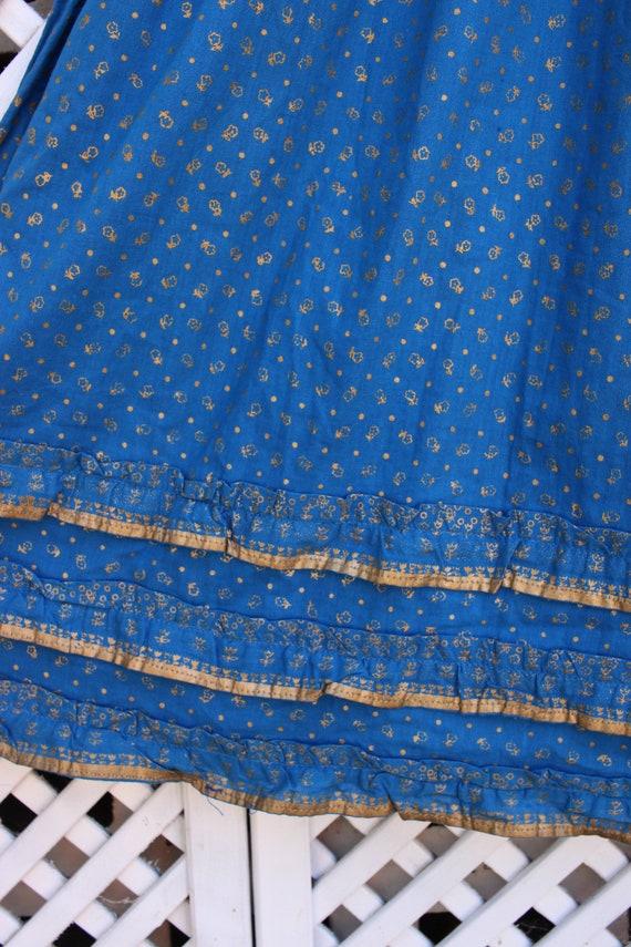Vintage blue floral Ayesha Davar cotton hippy Ind… - image 5