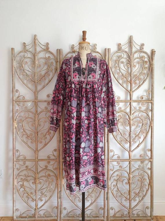 Vintage floral paisley Mayur cotton hippy Indian 7