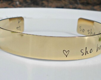 She Believed She Could So She Did, Inspirational Bracelet, Gifts for her, Daughter Gift, Inspirational Jewellery, Friend Gift.