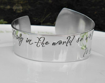 Shakespeare Quote Bracelet, William Shakespeare Love Quote, Literary Jewellery, Shakespeare Bracelet, Love Quote Cuff, Gifts for her.