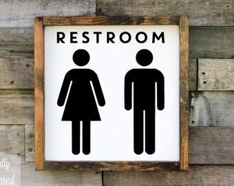 ladies restroom sign etsy