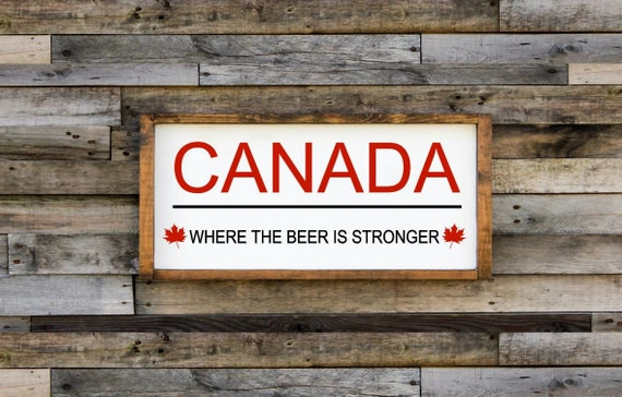 Wood Sign Canada Sign Free Shipping Home Decor Canada Etsy