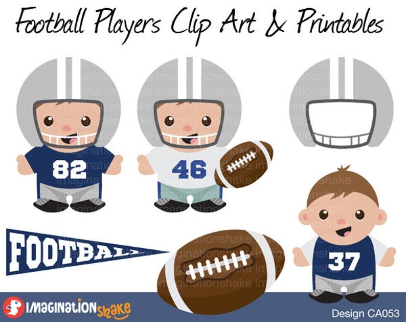 903508080 Dallas Cowboys Football Players Clip Art   Printables Set