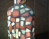 Mosaic Stained Glass Bottle Light