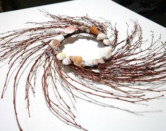 "Handmade Seashell Wreath 18"""