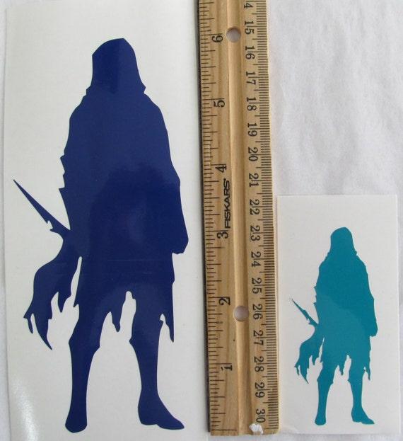 Vinyle Gamer RPG voiture fenêtre Sticker autocollant mâle Assassin voyous avec poignard Silhouette de rôle jeu jeu D & D donjons Dragons
