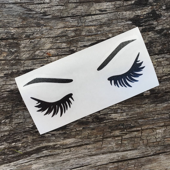 Eyelash Eyebrow Decal Sticker Car Cup Decal Beauty Stickers Etsy