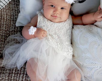 48061a9a546f 0-3 months baby white christening outfit