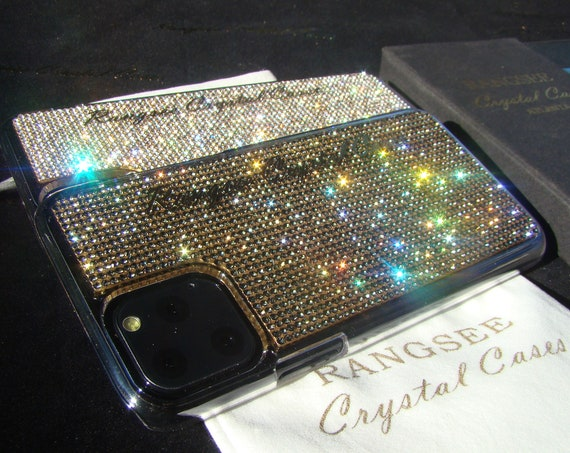 iPhone 11 Pro case, iPhone 11 Pro Max case, iPhone XS , iPhone XS Max, Rhinestone Crystals on Transparent Case, Rangsee Crystal Cases