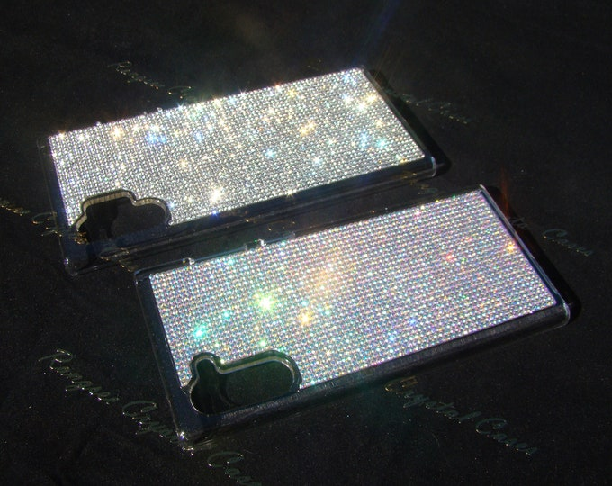 Galaxy Note 10 Case, Galaxy Note 10 Plus Case, Galaxy Note 9 Case, Crystals on Clear Transparent Case. Genuine Rangsee Crystal Cases.