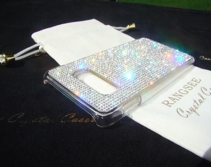 Galaxy S10 Case , Galaxy S10e Case, Galaxy S10 Plus Case Clear Diamond Rhinestone Crystals on Transparent Clear Hard PC Case.