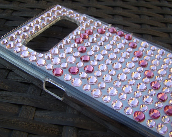 Galaxy Note 8 case  Heart Edition Rose and Light Rose Crystals , 22 different crystal colors available Rangsee Crystal Cases