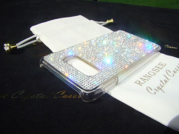 Galaxy S10, Galaxy S10e, Galaxy S10 Plus Clear Diamond Rhinestone Crystals on Transparent Clear Case. 14 crystal Colors avalible.