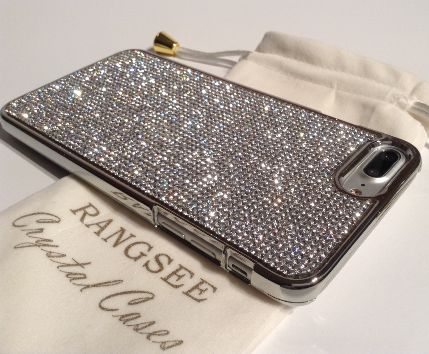 los angeles 25642 c3ed7 iPhone 8 Plus Case / iPhone 7 Plus Case Clear Diamond Rhinestone ...