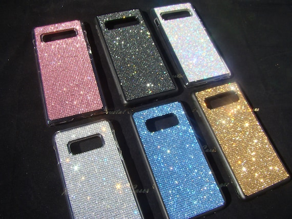 Galaxy S10E case Clear Diamonds Rhinestone Crystals on Transparent Clear Hard PC Case.
