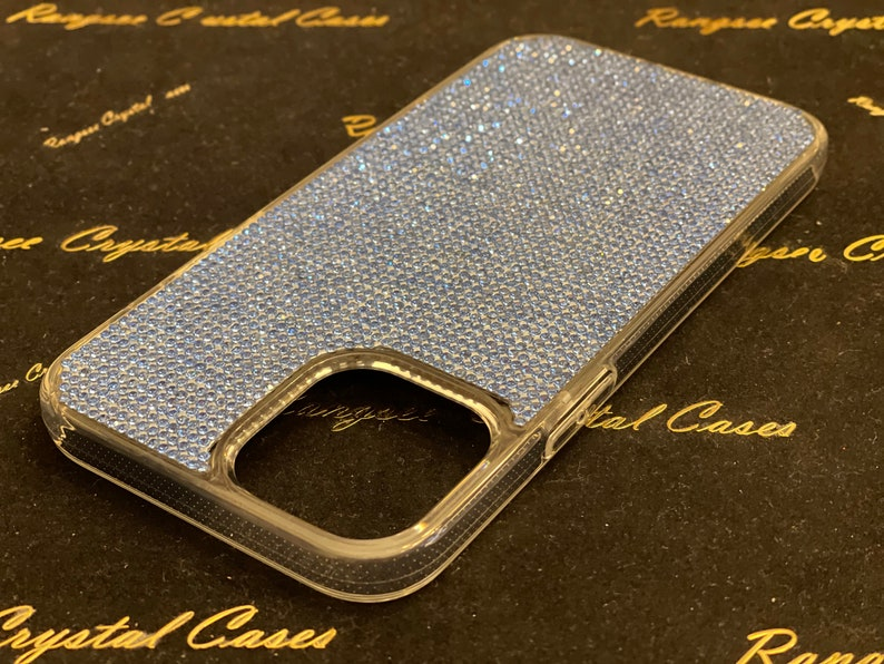iPhone 12 Mini Clear Diamond  Rhinestone crystals Clear TPUPC Rubber Case iPhone 12 Case iPhone 12 Pro case iPhone 12 Pro Max case