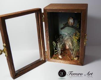 DIORAMA MINIATURE BOX art landscape diorama animals bird   Etsy