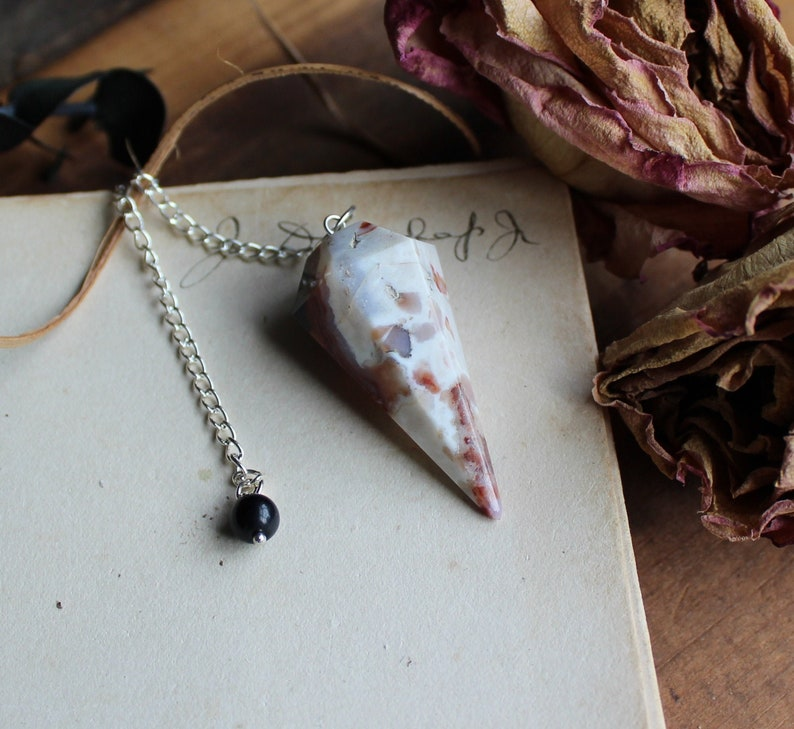 Jasper Pendulum  Crystal Pendulum  Divination Tool  Fortune image 0
