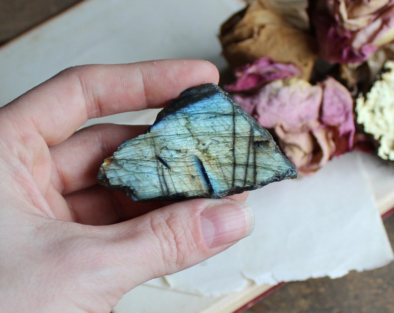 Labradorite Polished Raw Chunk  Healing Crystal  Raw image 0
