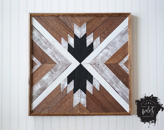 BUILT BY BRANDON Series: Rustic Wood Hanging, Wood Art, Man Cave, Lumberjack, SouthWestern Pattern, Hipster Wall Hanging, Geometric