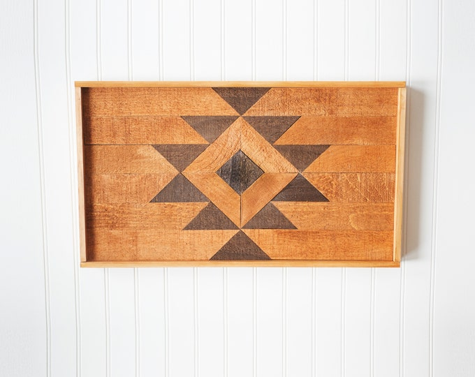 BUILT BY BRANDON Series: Rustic Wood Hanging, Wood Art, Man Cave, Lumberjack, Hipster Wall Hanging, Geometric