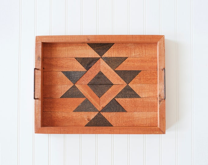 BUILT BY BRANDON Series: Rustic Wood Tray, Wood Art, Man Cave, Lumberjack, Hipster Wall Hanging, Geometric