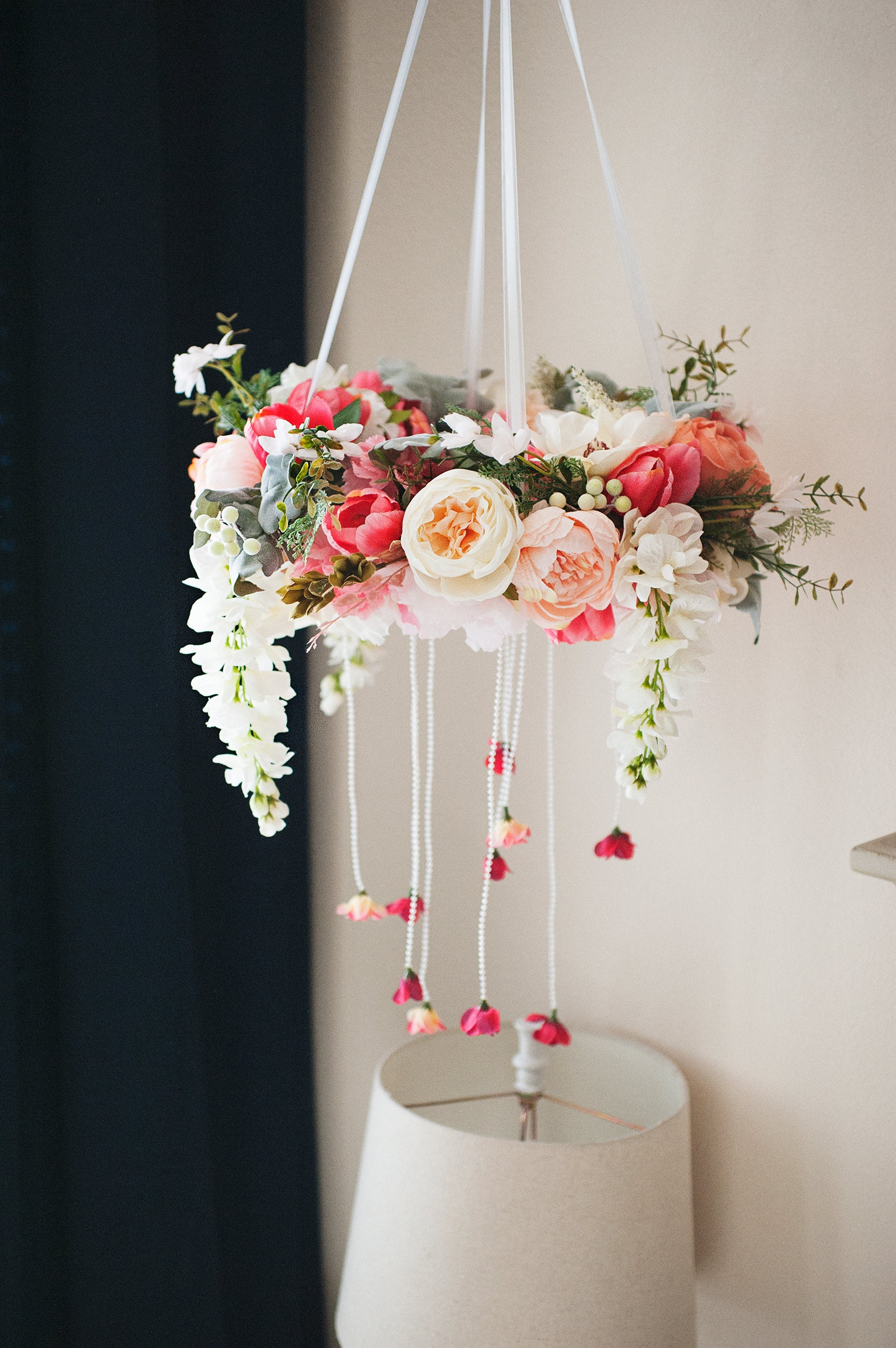 The Hanging Garden Series Floral Mobile Hanging, Nursery Decor, Full